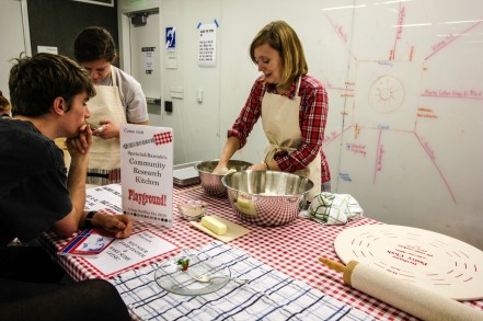 As with all our events throughout this residency, we partnered with Sigrid Peterson who is seen here making lefse.
