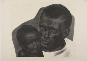portrait of African-American man and child
